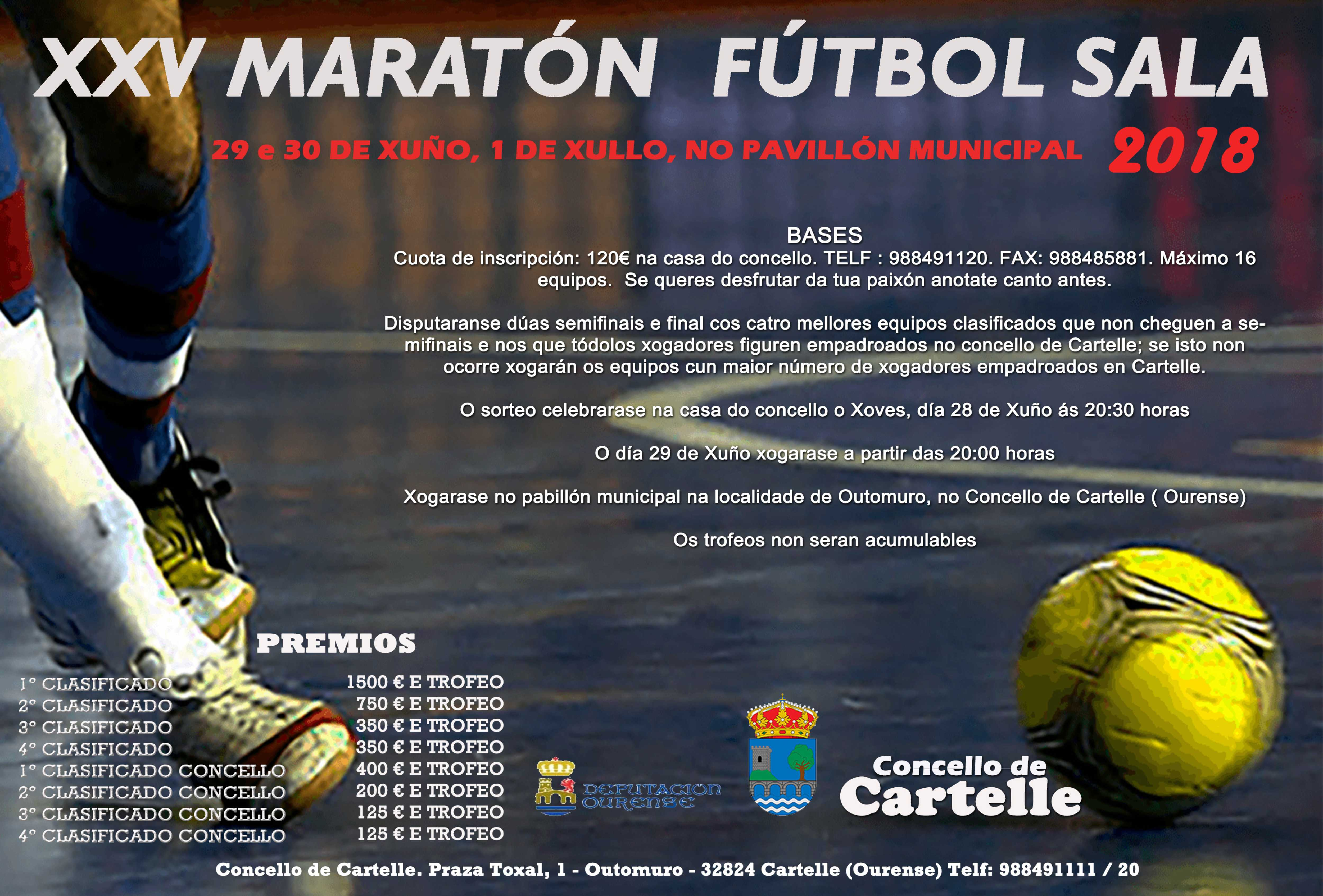 Img cartel maratón fútbol sala
