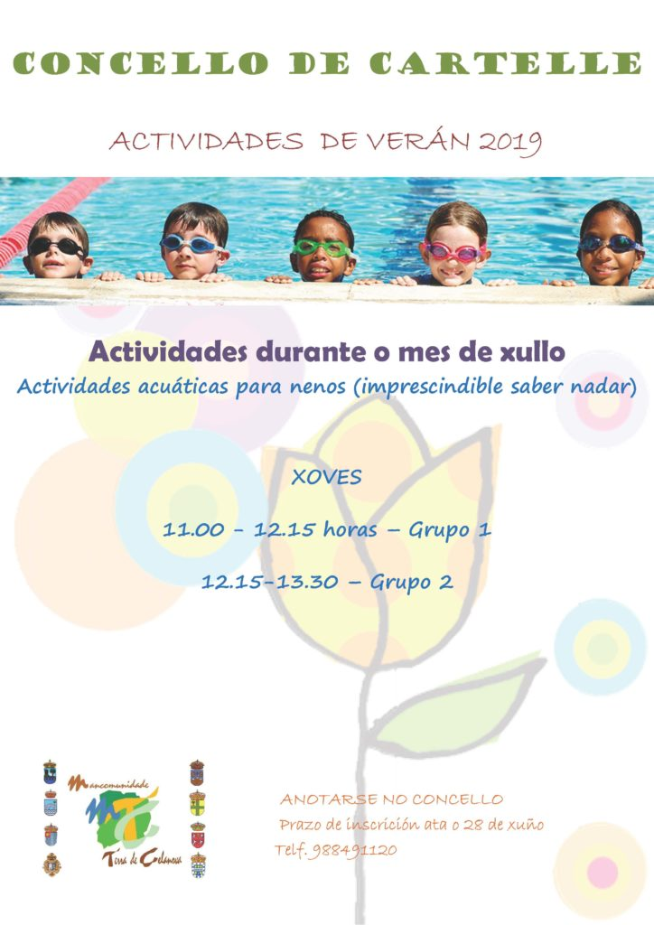 Actividades acuáticas para nenos/as
