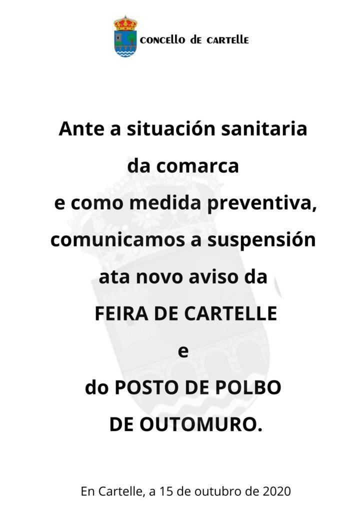 Suspensión feira Cartelle