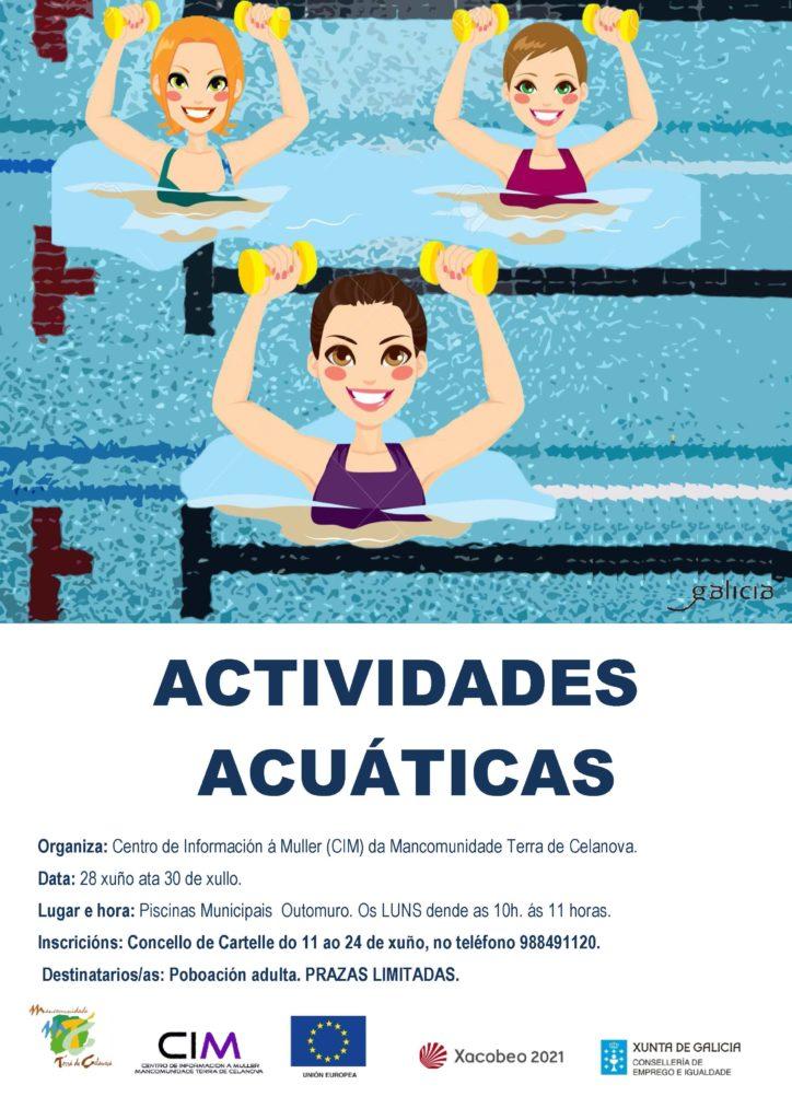 En Cartelle, actividades acuáticas para adultos